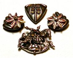 Flower Horse Silver Colored Jewelry Decorated Bling Up cycled OOAK Fridge Magnets for Home Decor by PAVACreations on Etsy