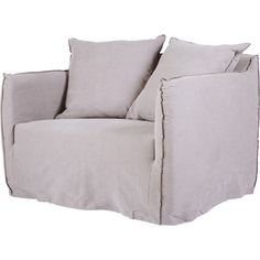 Bronte Mauve Slipcover Love Seat Italian Linen ❤ liked on Polyvore featuring home, furniture, sofas, linen sofa, slip cover couch, linen couch, slipcover couch and linen loveseat
