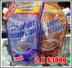 Limpiador desinfectante 2 x 1 500ml c/U Lps, Snack Recipes, Snacks, Food, Cleanser, Snack Mix Recipes, Appetizer Recipes, Appetizers, Essen
