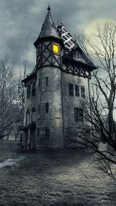 Real or faux, still a pretty castle Spooky Halloween Pictures, Halloween Wall Decor, Halloween Haunted Houses, Gothic Background, Castle Background, Beautiful World, Beautiful Places, Dark Castle, Gothic Buildings