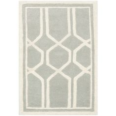 Safavieh Contemporary Handmade Moroccan Chatham Gray/ Ivory Wool Rug (2'3 x 5') - Overstock™ Shopping - Great Deals on Safavieh Accent Rugs