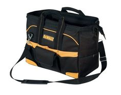 DEWALT DG5543 16-Inch Tradesman's Tool Bag by DEWALT. $29.98. From the Manufacturer                16-Inch Tradesman's tool bag                                    Product Description                Brand new DeWalt Tradesman's Tool Bag. Large interior compartment allows for easy access to tools and parts. 20 exterior pockets allow for hundreds of organization options. One exterior flap covered pocket with hook & loop closure. 13 interior pockets including one zippered i...