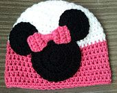 Crochet Minnie Mouse Inspired Beanie