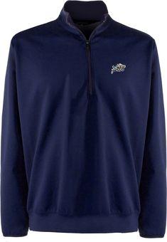65394088515 Antigua Men's Navy Midshipmen Leader Pullover Navy Long Sleeve Shirt
