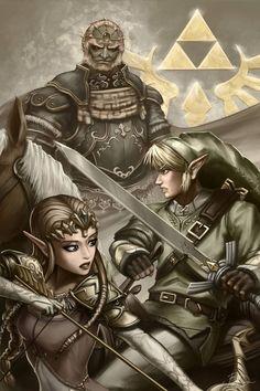 """""""The Legend of Zelda: Twilight Princess"""" Released by Nintendo on the Wii in 2006. Characters: Link, Princess Zelda & Ganondorf"""