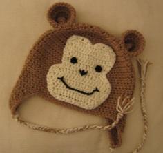cheeky monkey hat #crochet #hat #monkey #gift #child