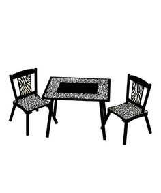 Take a look at this Wild Side Table Set by Levels of Discovery on #zulily today!