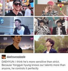 Daehyun talking about Leader Bang