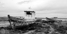 Cementerio de barcos en Puerto Natales