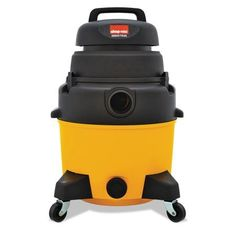 Shop-Vac Industrial Wet/Dry Vacuum, 6.5hp, 8gal Capacity, 25lb, Black/Yellow