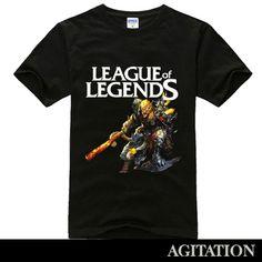 Cool Designs League OF Legends T Shirt monkey king black