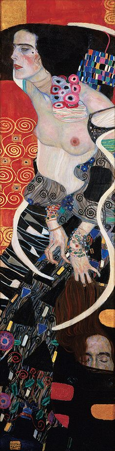 Gustav Klimt Salomè 1909 olio su tela, cm 178 x 46 Venezia, Ca' Pesaro, Galleria Internazionale d'Arte Moderna