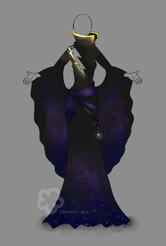 Stormy Night Dress - closed by Nahemii-san on deviantART
