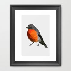Geo - Robin Framed Art Print by Three Of The Possessed - society6  20 x 26