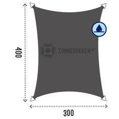 Rechthoek 300 x 400 cm Waterafstotend