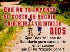 Obedeciendo la Voluntad de DIOS.