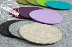 4er Set FILZ Untersetzer Tassenuntersetzer Glasuntersetzer /34 Farben Bierfilze | eBay