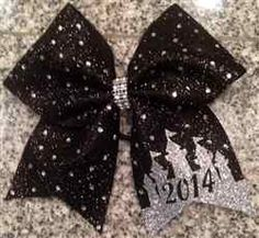 Black Glitter and Rhinestones Glitter Princess Castle 2014 Orlando Events Cheer Bow