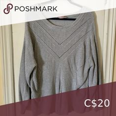 Shop Women's Penningtons Gray size Crew & Scoop Necks at a discounted price at Poshmark. Worn and washed only once. Oversized Grey Sweater, Gray Sweater, Gray Color, Scoop Neck, Sweaters For Women, Pullover, Closet, Things To Sell, Style