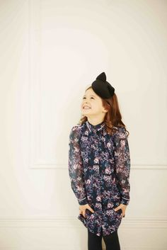 Dark florals are a key trend for fall/winter 2016 here by Oh...My! kidswear