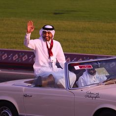 Fahad Al Kubaisi in a march to celebrate the National Day of the State of Qatar. December 2014