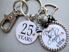 Wedding Anniversary Date  PERSONALIZED Names and Year by buttonit, $24.50