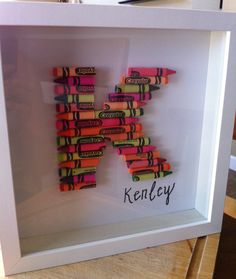 cute way to decorate for a kids room...crayon letter