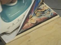 tutorial how to iron transfer color pictures to wood