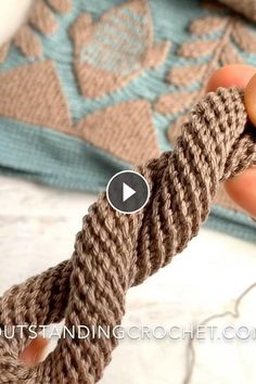 Two Different Brioche Stitch Techniques Knitting Basics, Knitting Videos, Knitting Stitches, Knitting Yarn, Knitting Patterns, Irish Crochet, Double Crochet, Crochet Lace, Headband Pattern