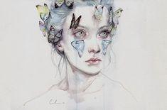 Juxtapoz Magazine - New Watercolors by Agnes Cecile
