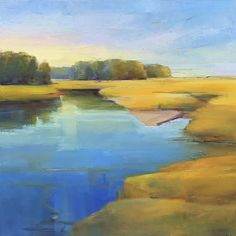 """""""Summer Calm"""" by Holly Ready. Oil on Canvas. 30"""" X 30"""". Available at www.maine-art.com"""