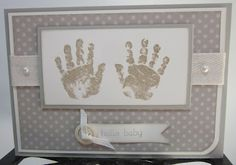 Stampin' Up UK Demonstrator Sarah-Jane Rae Cards and a Cuppa blog: Neutral Baby Prints card,