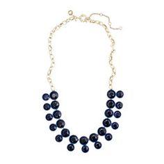 Double crystal brulée necklace