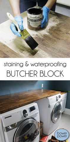 Staining and waterproofing butcher block - Bower Power
