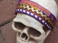 Purple & Gold LSU Fabric Headband by ransomletterhandmade on Etsy, $14.00
