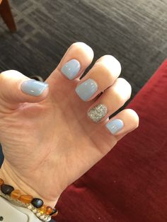 Winter Nails - ✔ perfect winter nail designs to make you feel warm 21 Sparkle Nails, Fancy Nails, Cute Nails, Pretty Nails, Classy Nail Designs, Winter Nail Designs, Short Nail Designs, Hair And Nails, My Nails