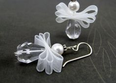 Angel Earrings, May Your Every Wish Come True, Christmas, Sterling Silver. $19.00, via Etsy.