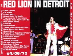 Elvis Detroit, Olympia Stadium, April 6, 1972 -
