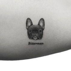 Mr. K, the French Bulldog Puppy tattoo