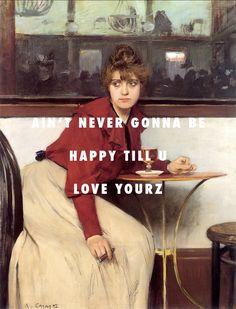 No such thing as a life that's better than yours. Au moulin de la galette (1892), Ramon Casas i Carbó / Love Yourz, J. Cole