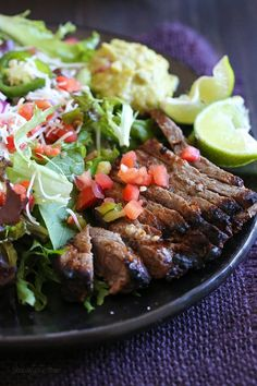 This Carne Asada steak salad is made with everything I love. This Carne Asada steak salad is made with everything I love juicy steak pico de gallo Monterey Jack cheese and guacamole # steaksalad Beef. Its Whats For Dinner. Beef Recipes, Cooking Recipes, Healthy Recipes, Potato Recipes, Vegetable Recipes, Easy Recipes, Vegetarian Recipes, Healthy Dinners, Amazing Recipes