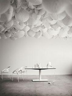 White paper-tissue balls.