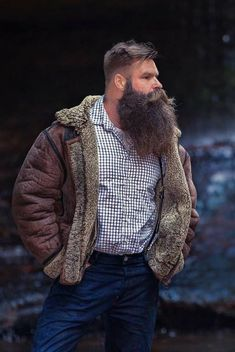 Balance is key to dressing big men. Beards And Mustaches, Moustaches, Walrus Mustache, Beard No Mustache, Gay Beard, Badass Beard, Epic Beard, Great Beards, Awesome Beards