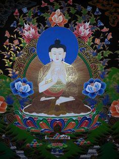 Medicine Buddha Thangka Painting from Nepal.