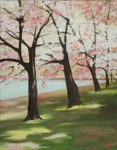 » Cherry Blossoms art by anne lewis