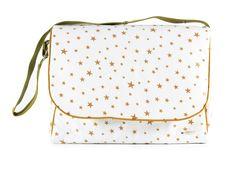 sac de maternité london étoiles moutarde