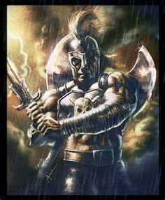Ares the god of war. He's the son of Zeus and Hera. Nobody liked the blood thirsty god. Not even his father Zeus loved him.