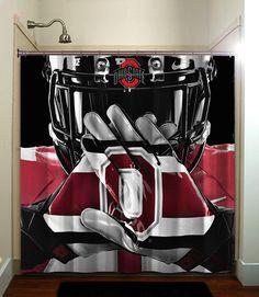 Ohio State Buckeye Ncaa Football Shower Curtain Bathroom