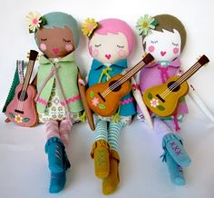 irresistible little hipster dolls by Lori Marie