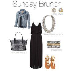Sunday brunch with Stella Dot Sutton Necklace, Portia Bracelet, and Nancy Studs. http://www.stelladot.de/nataschaheiden